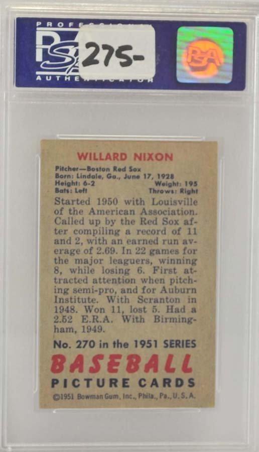 1951 Bowman Willard Nixon PSA 8 - 2