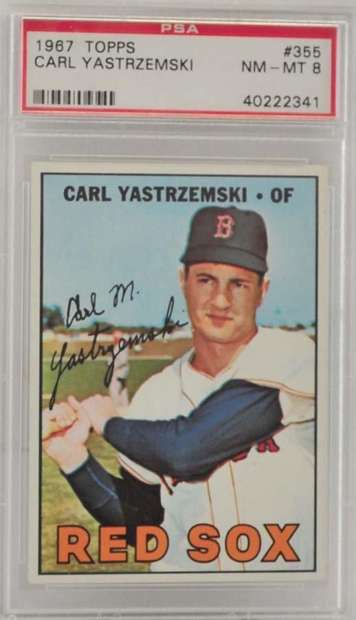 1967 Topps Carl Yastrzemski PSA 8