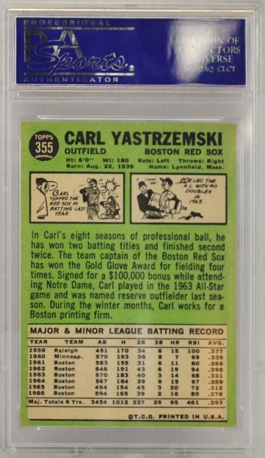 1967 Topps Carl Yastrzemski PSA 8 - 2