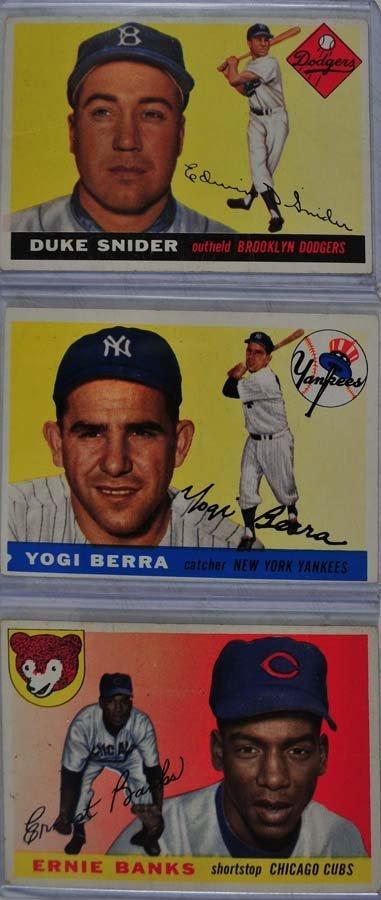 5 1955 Topps HOF Baseball Cards
