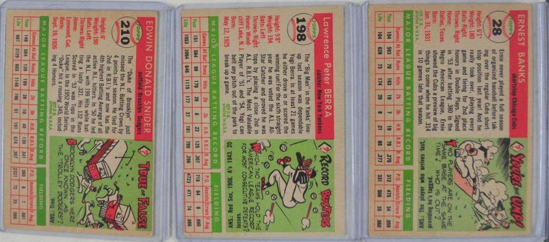 5 1955 Topps HOF Baseball Cards - 2