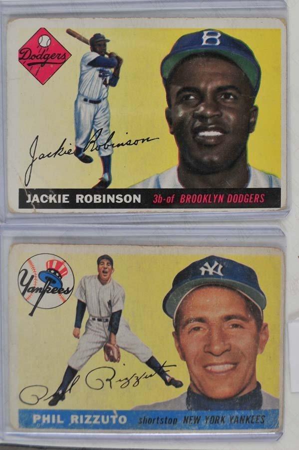 5 1955 Topps HOF Baseball Cards - 3
