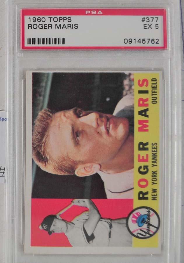 1960 Topps Roger Maris PSA 5