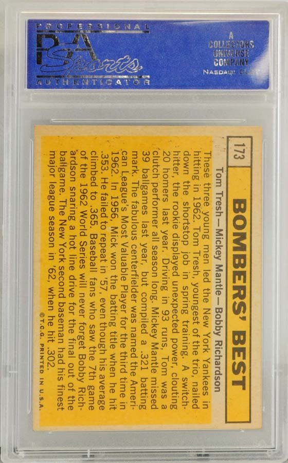 1963 Topps Bombers Best Mickey Mantle PSA 8 - 2