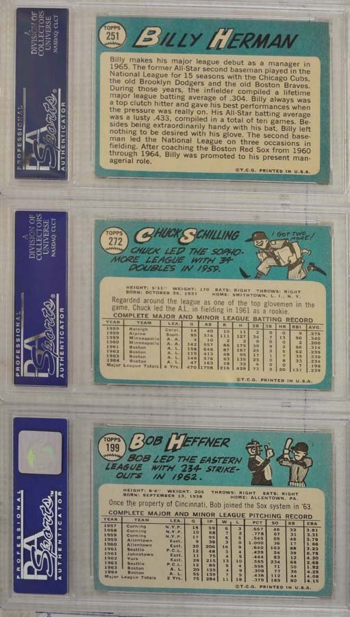 20 1964 Topps Baseball Cards PSA Graded 8 - 10