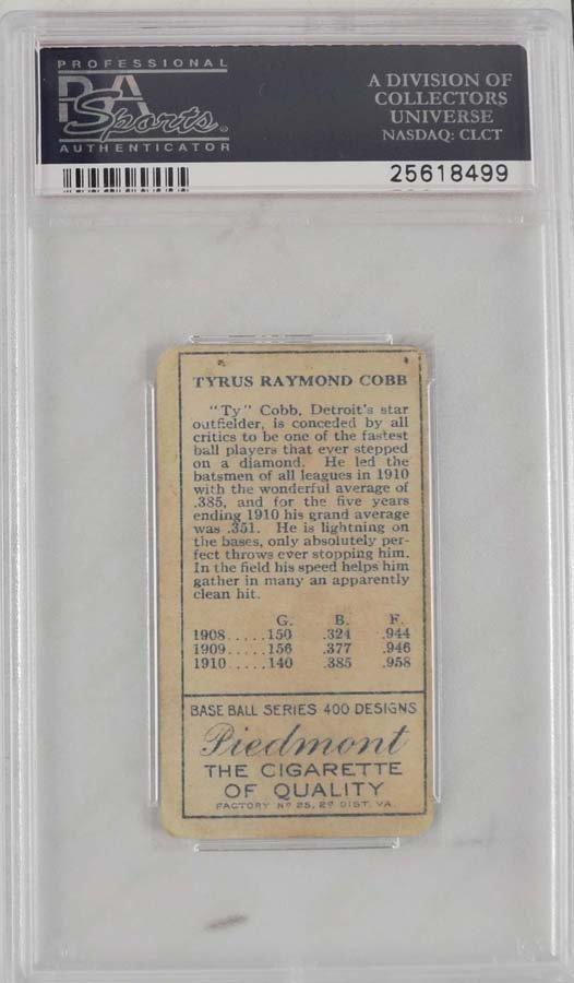 1911 T205 Ty Cobb PSA Graded Good 2 - 2