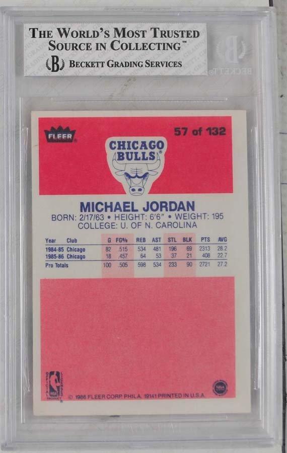 1986 Fleer Michael Jordan Rookie - 2
