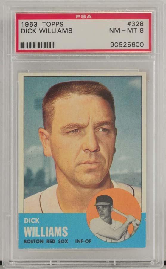 1963 Topps Dick Williams PSA Graded 8