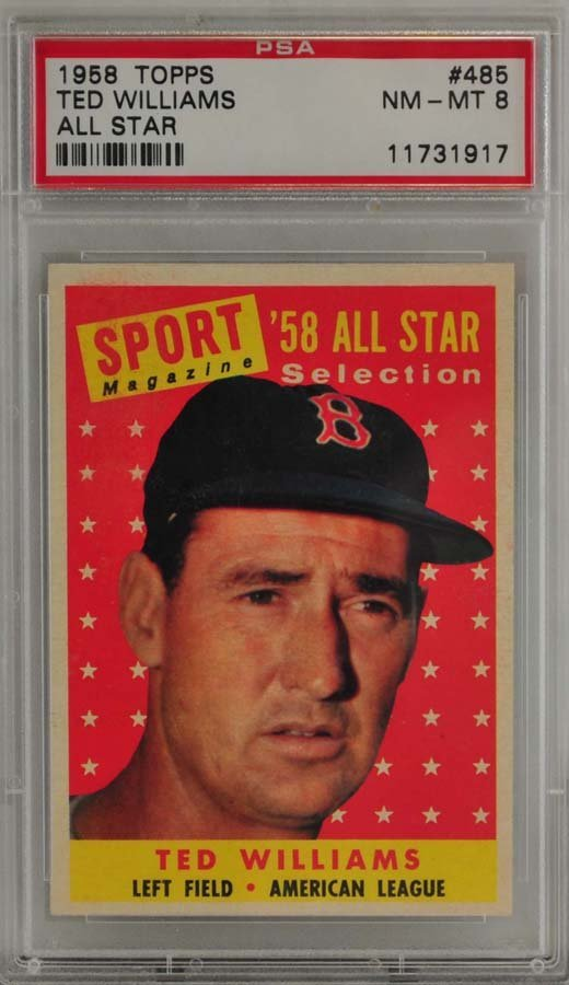 1958 Topps All-Star Ted Williams PSA 8
