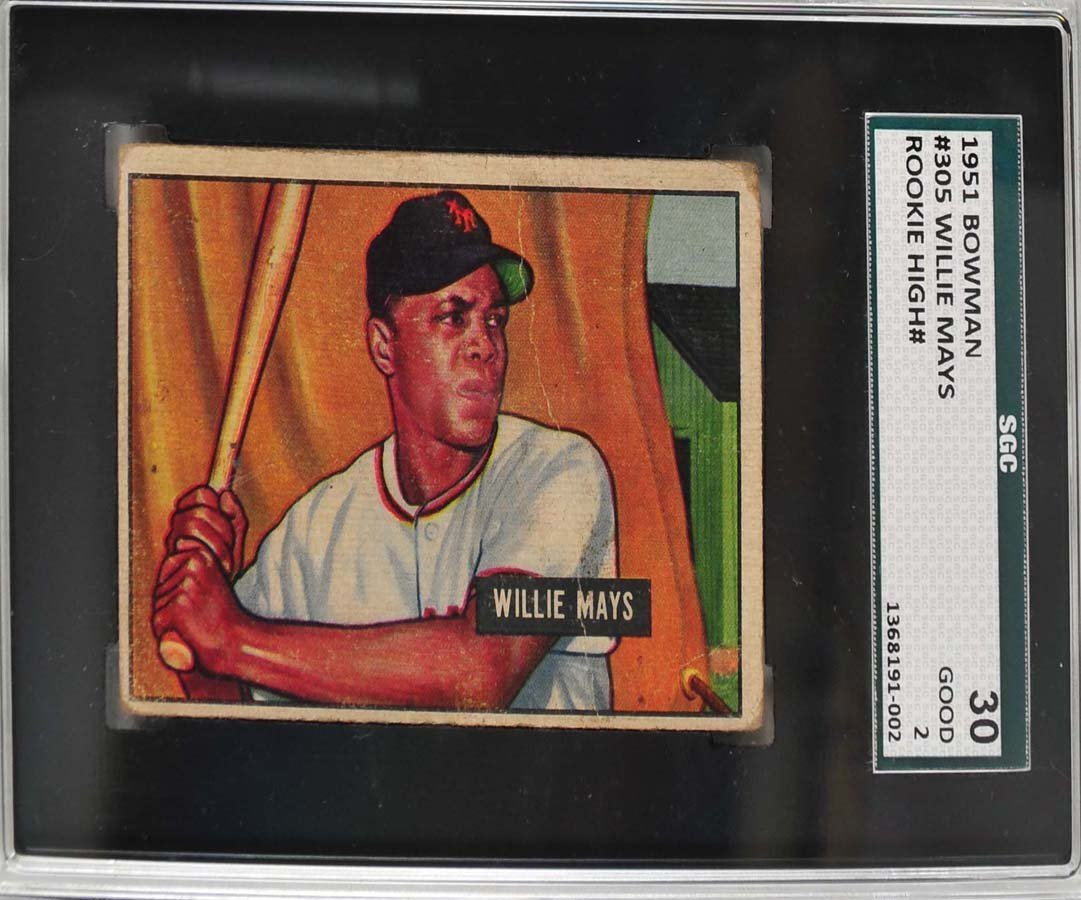1951 Bowman Wilie Mays Rookie High Number