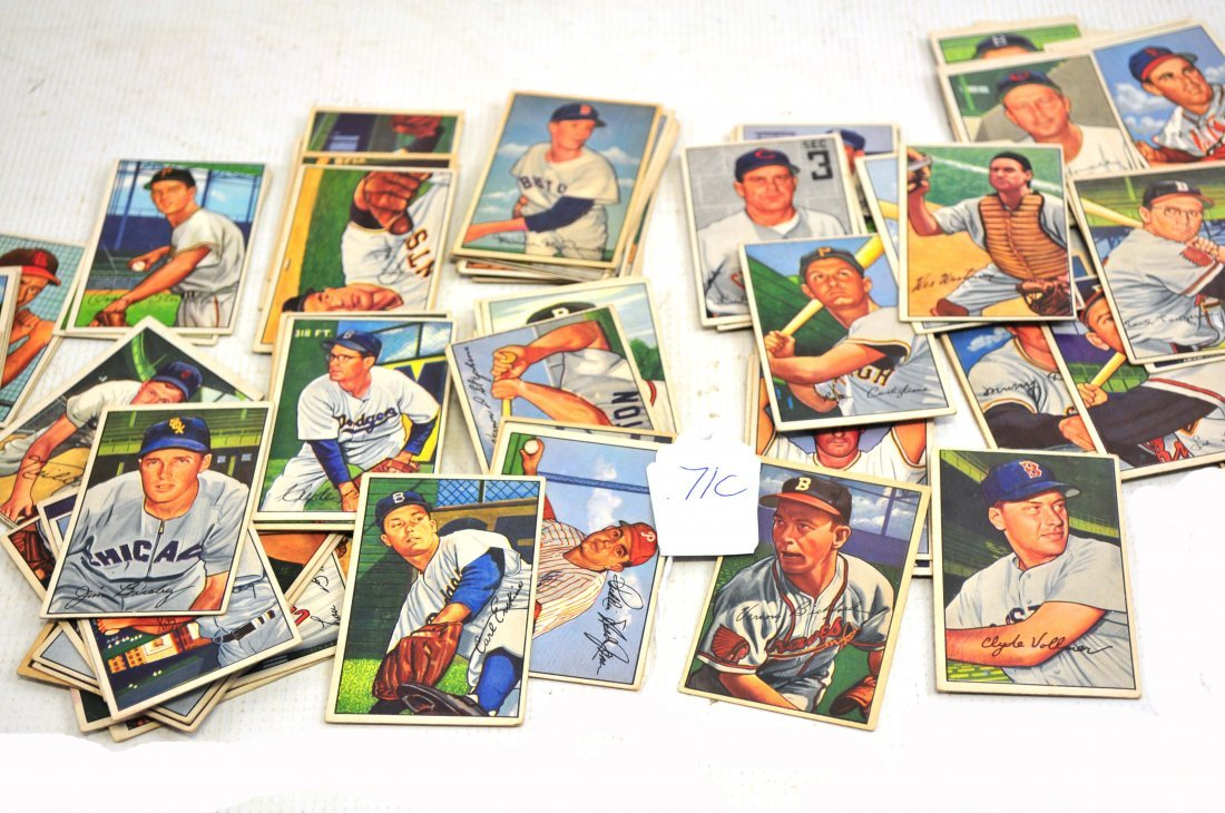 84 1952 Bowman Baseball Cards/Attic Find