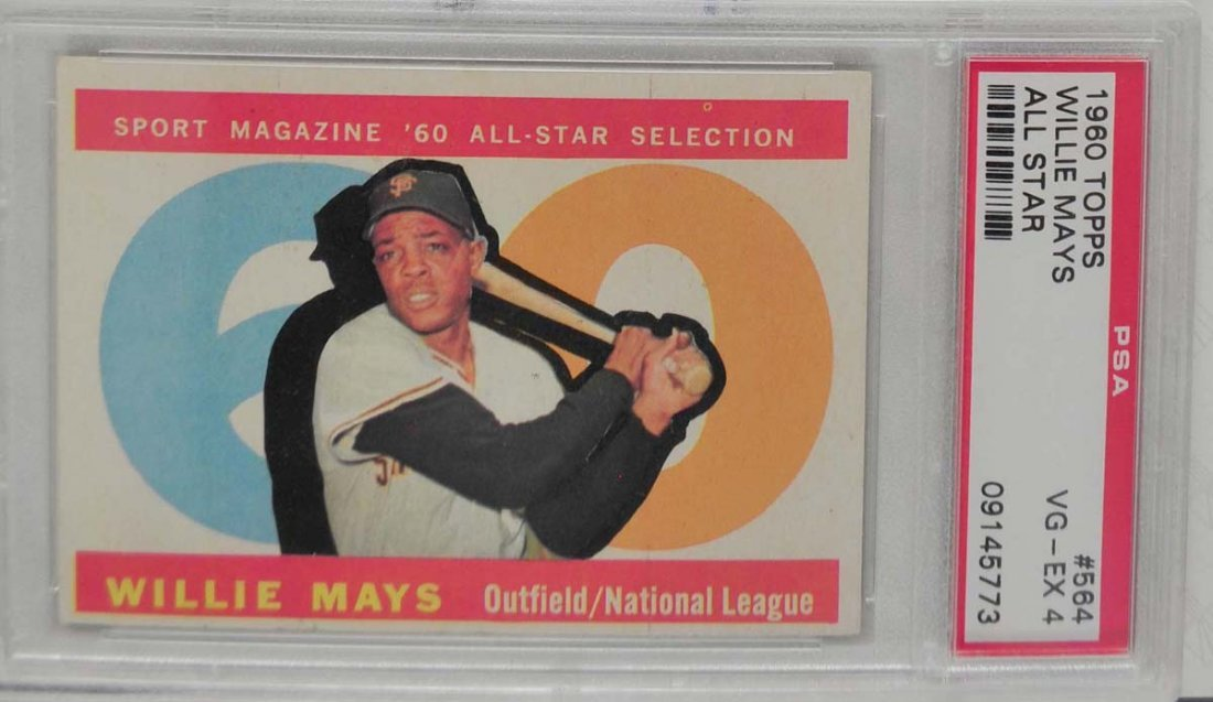 1960 Topps Willie Mays All-Star PSA 4
