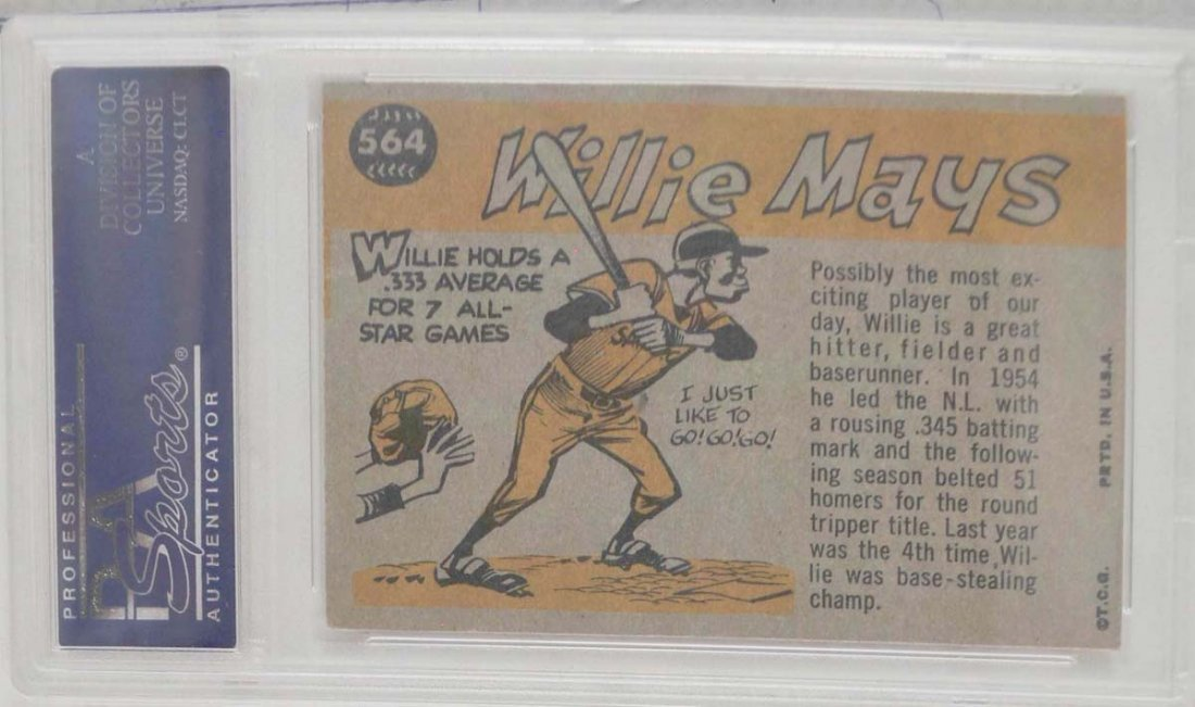 1960 Topps Willie Mays All-Star PSA 4 - 2