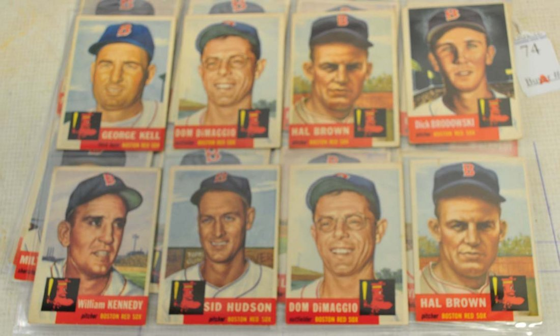 33 1953 Topps Red Sox Cards