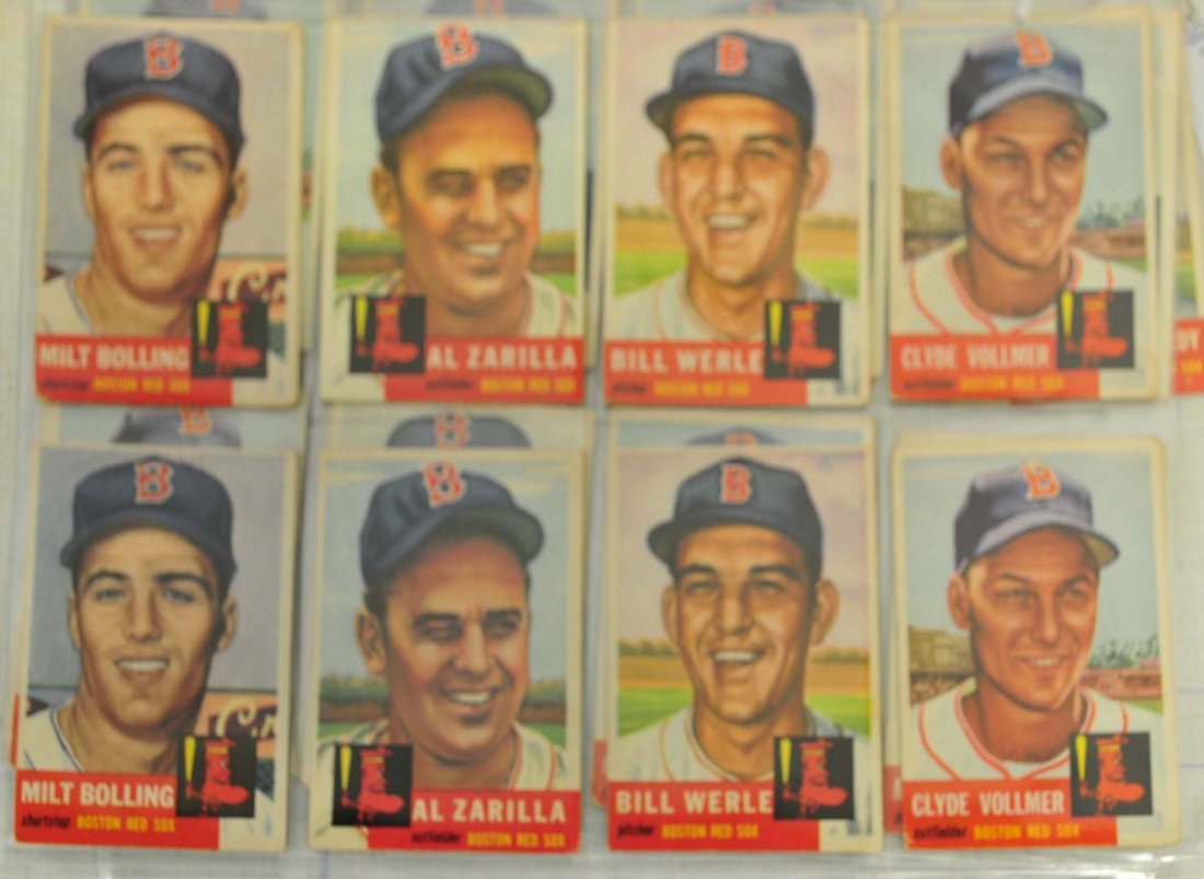 33 1953 Topps Red Sox Cards - 2