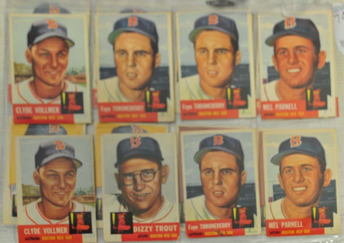 33 1953 Topps Red Sox Cards - 3