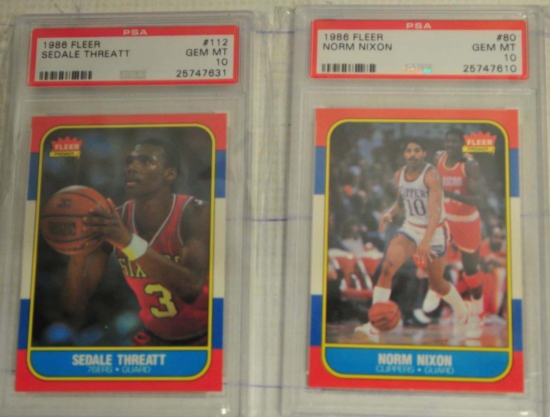 5 1986 Fleer Basketball Cards PSA Gem Mint 10