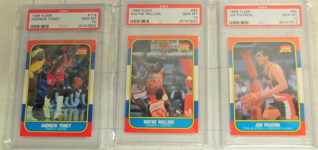 5 1986 Fleer Basketball Cards PSA Gem Mint 10 - 2