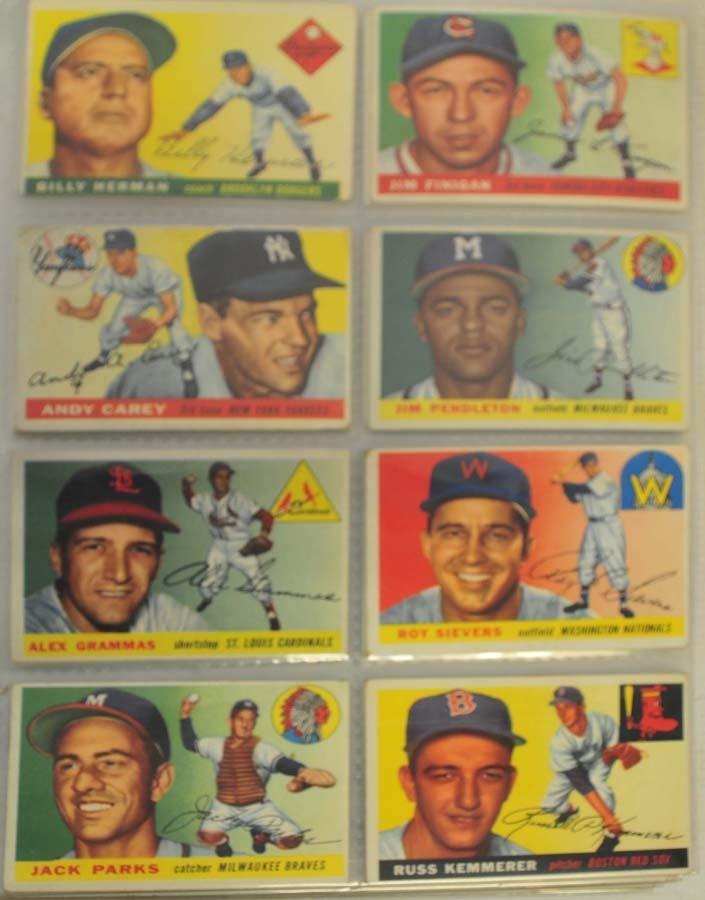 128 1955 Topps Baseball Cards - 2