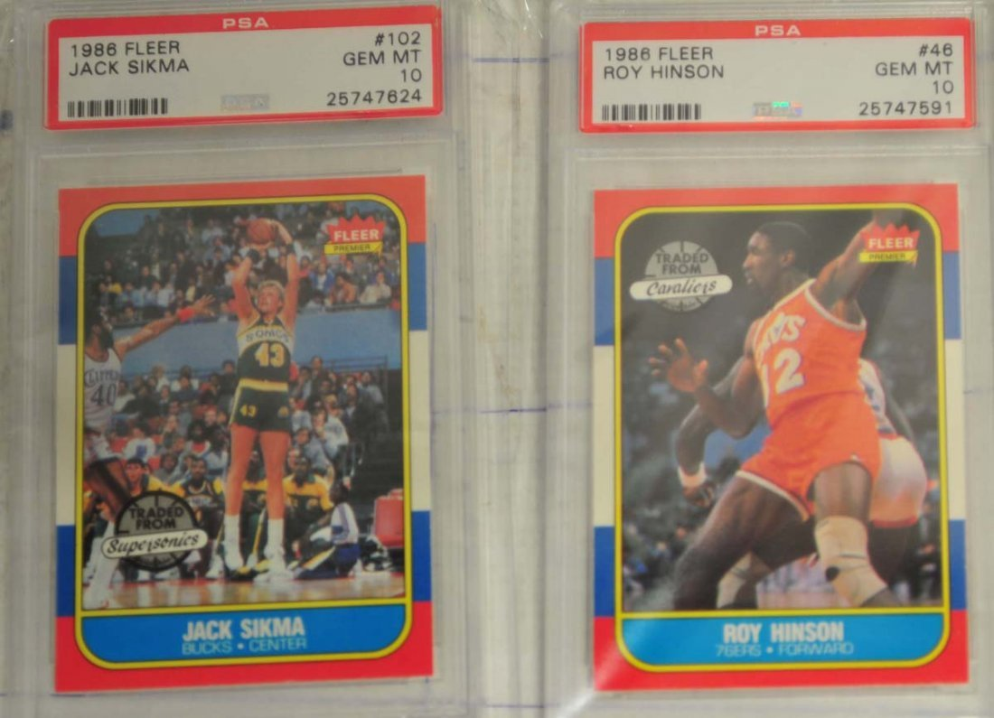 6 1986 Fleer Basketball cards PSA Gem Mint 10