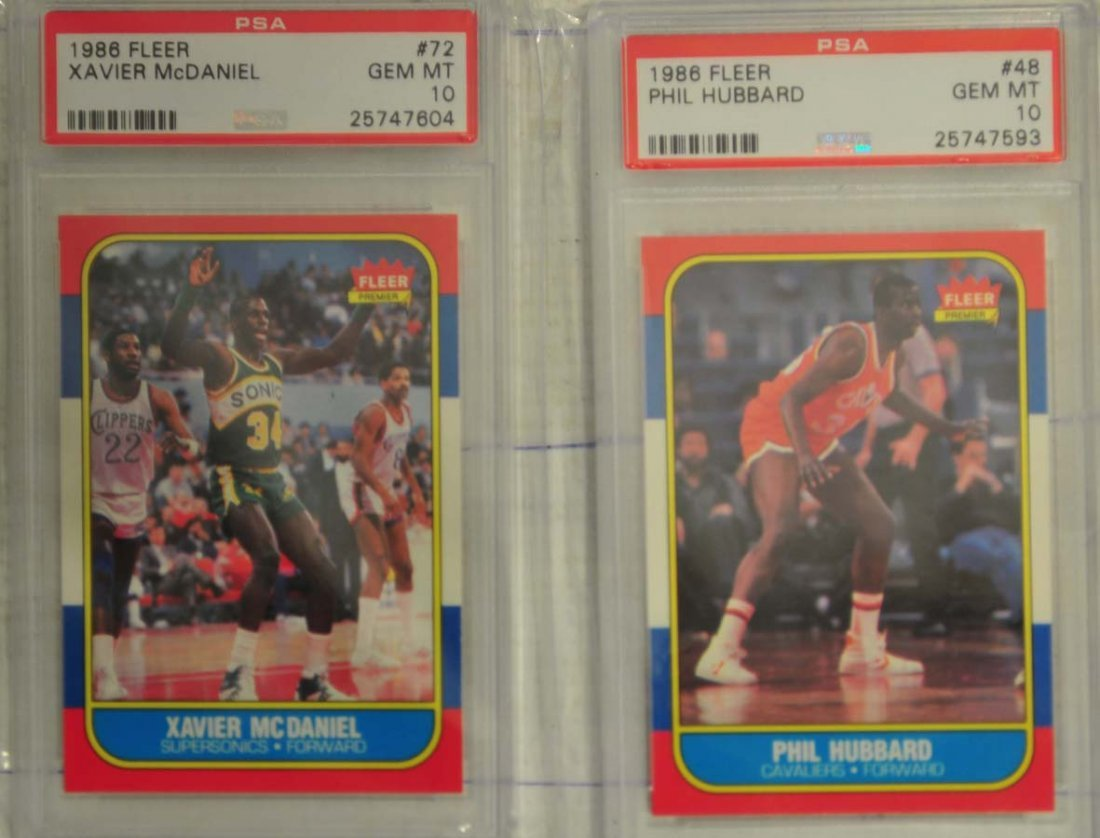 6 1986 Fleer Basketball cards PSA Gem Mint 10 - 2