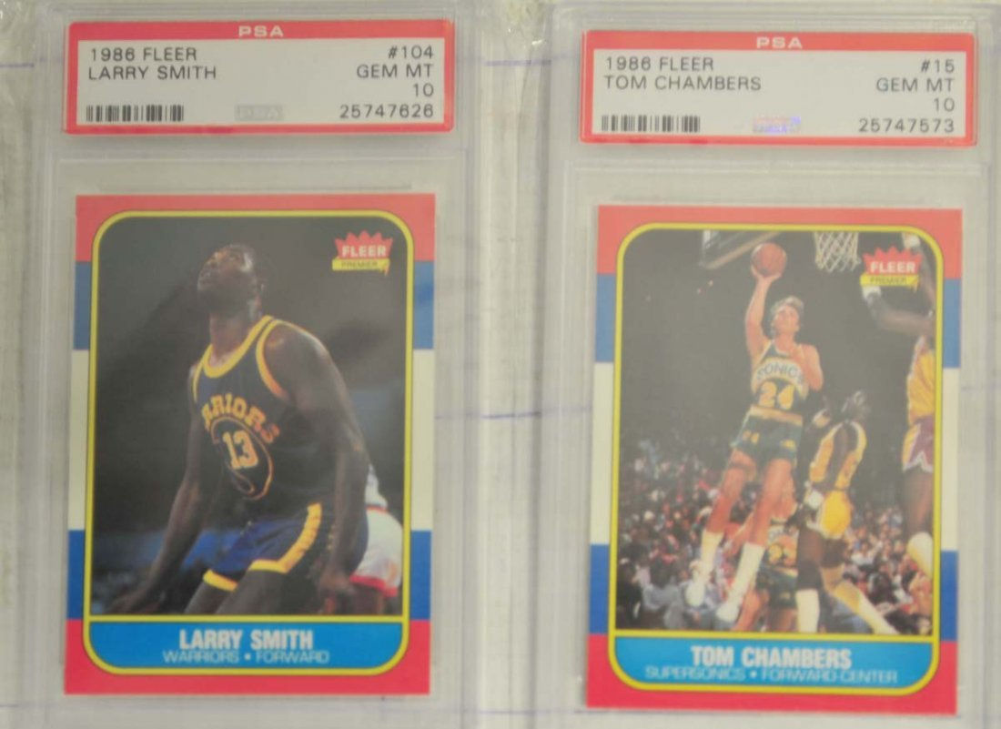 6 1986 Fleer Basketball cards PSA Gem Mint 10 - 3