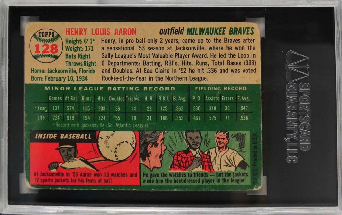 1954 Topps Hank Aaron Rookie - 2