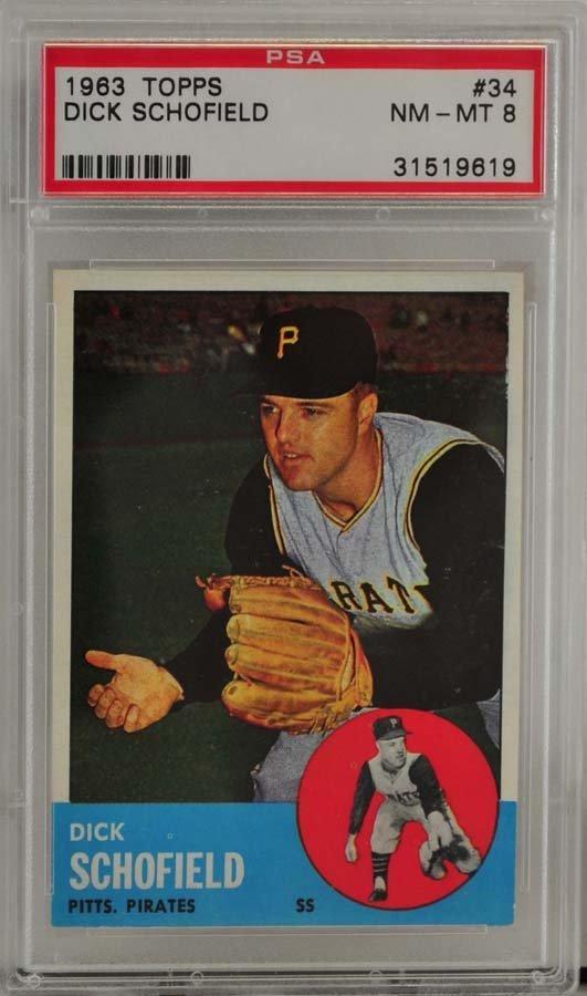 1963 Topps Dick Schofield PSA Graded 8