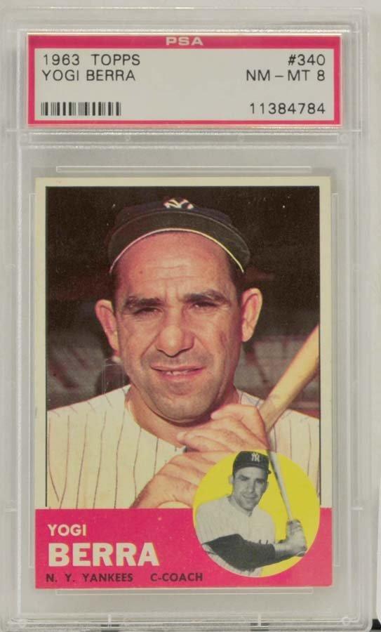 1963 Topps Yogi Berra PSA Graded 8