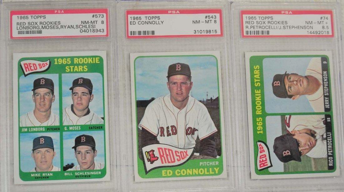 6 1965 Topps Baseball Cards PSA Graded 8