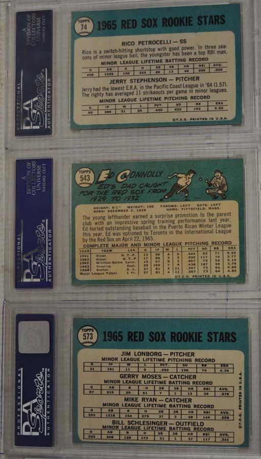 6 1965 Topps Baseball Cards PSA Graded 8 - 2