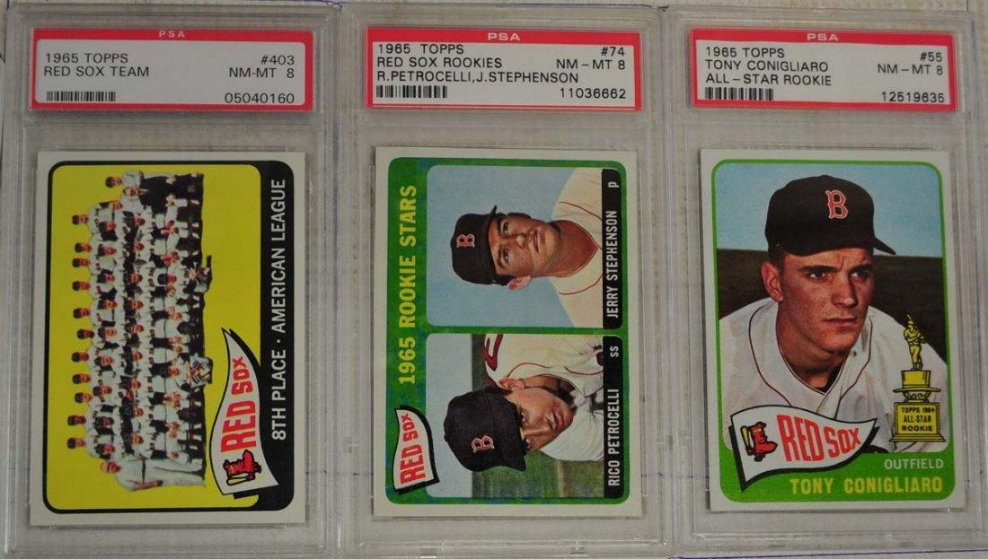 6 1965 Topps Baseball Cards PSA Graded 8 - 3