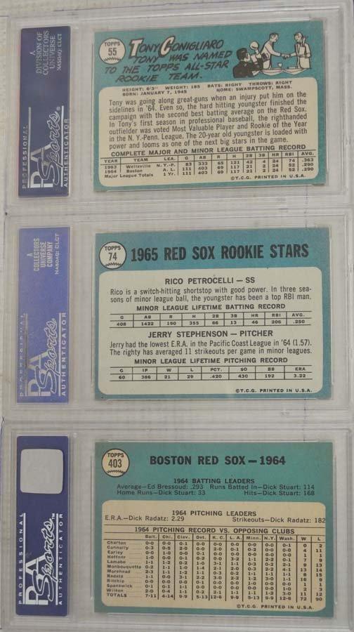 6 1965 Topps Baseball Cards PSA Graded 8 - 4