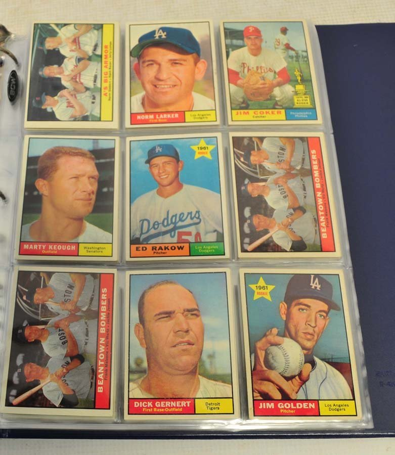 68 1961 Topps Baseball Cards