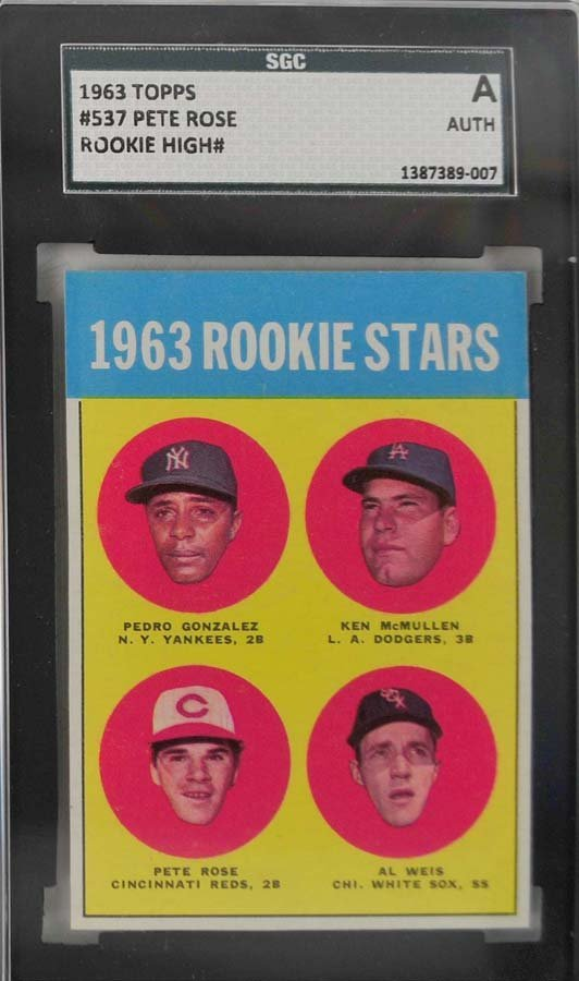 1963 Topps Pete Rose Rookie