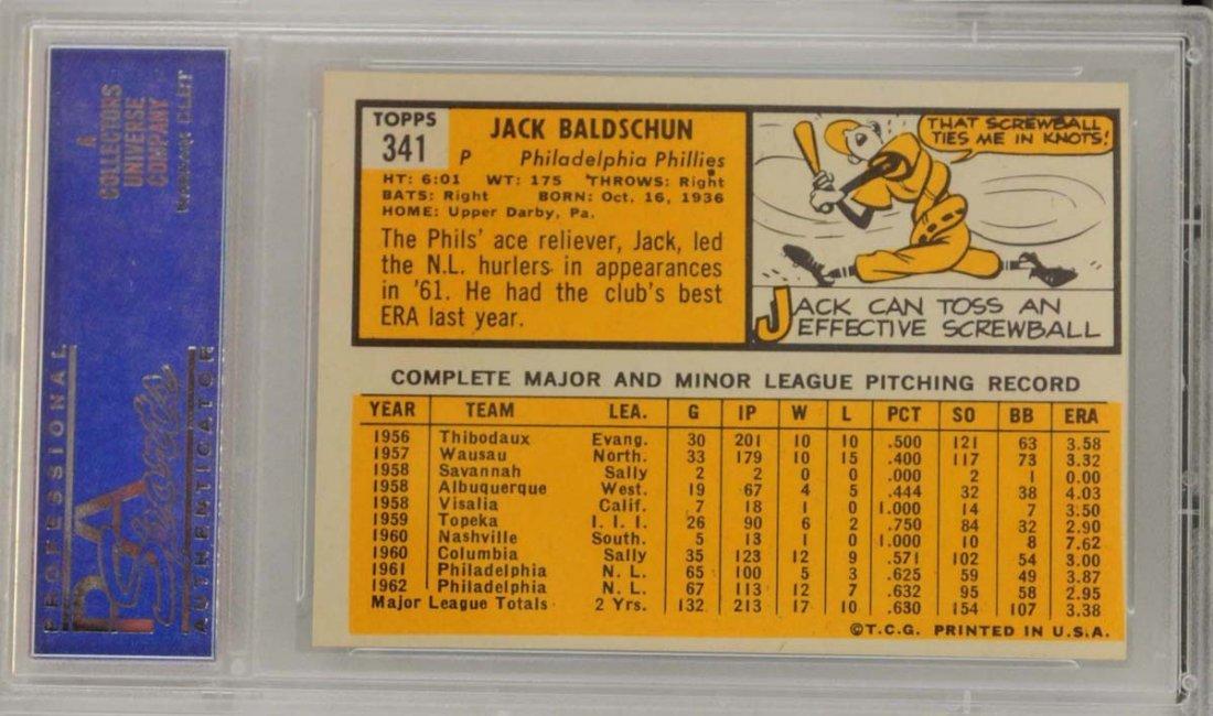 1963 Topps Jack Baldschun PSA 8 - 2