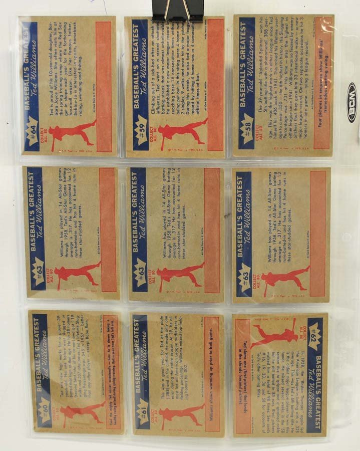 73 1959 Fleer Ted Williams Cards - 2