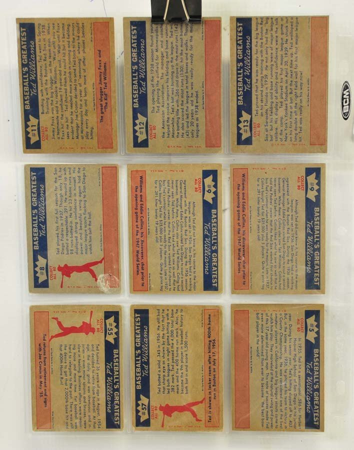 73 1959 Fleer Ted Williams Cards - 4