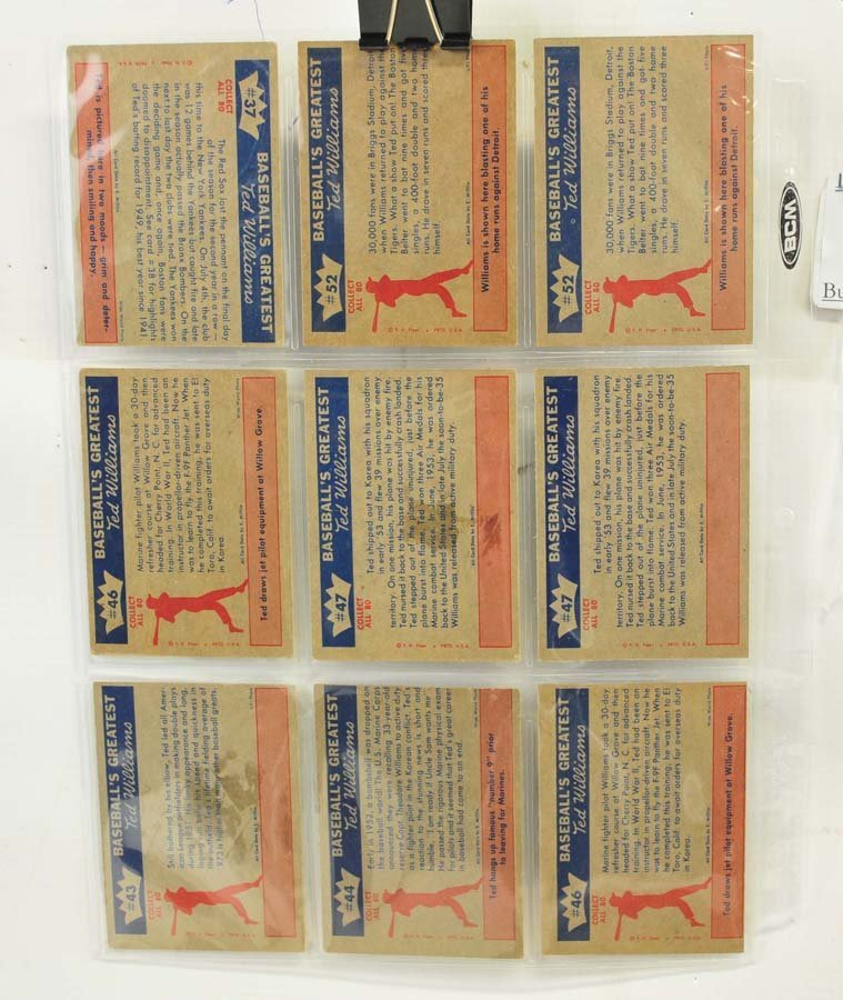 73 1959 Fleer Ted Williams Cards - 9