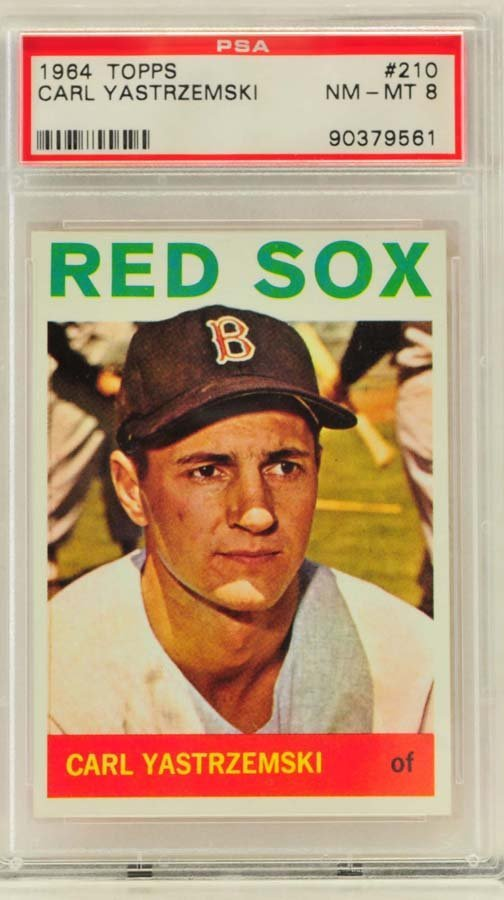 1964 Topps Carl Yastrzemski PSA Graded 8
