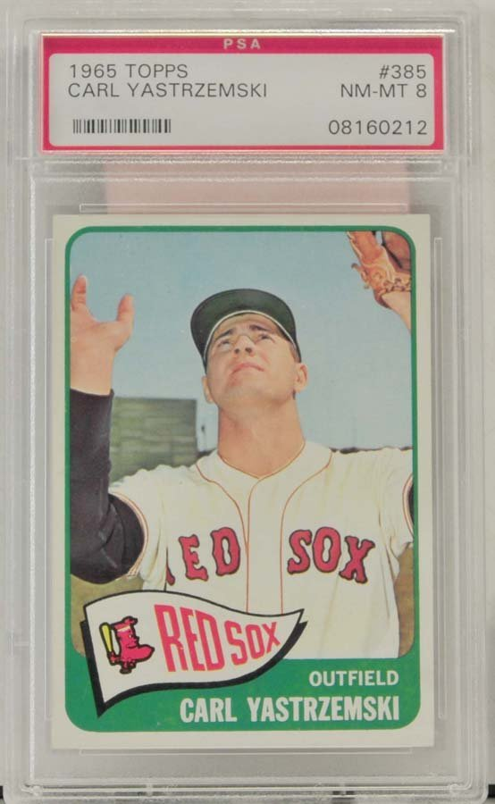 1965 Topps Carl Yastrzemski PSA Graded 8