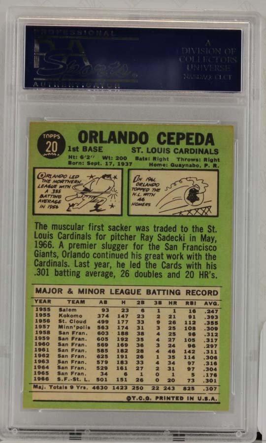 1967 Topps Orlando Cepeda PSA Graded 8 - 2