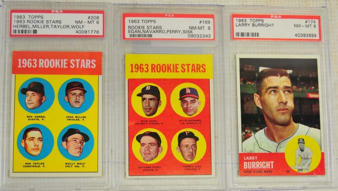 12 1963 Topps Baseball Key Graded Cards PSA 8 - 3
