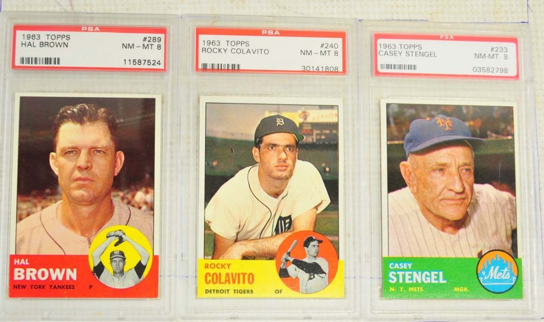 12 1963 Topps Baseball Key Graded Cards PSA 8 - 7