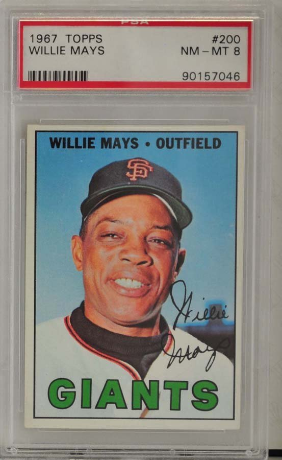 1967 Topps Willie Mays PSA Graded 8