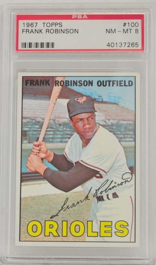 1967 Topps Frank Robinson PSA Graded 8