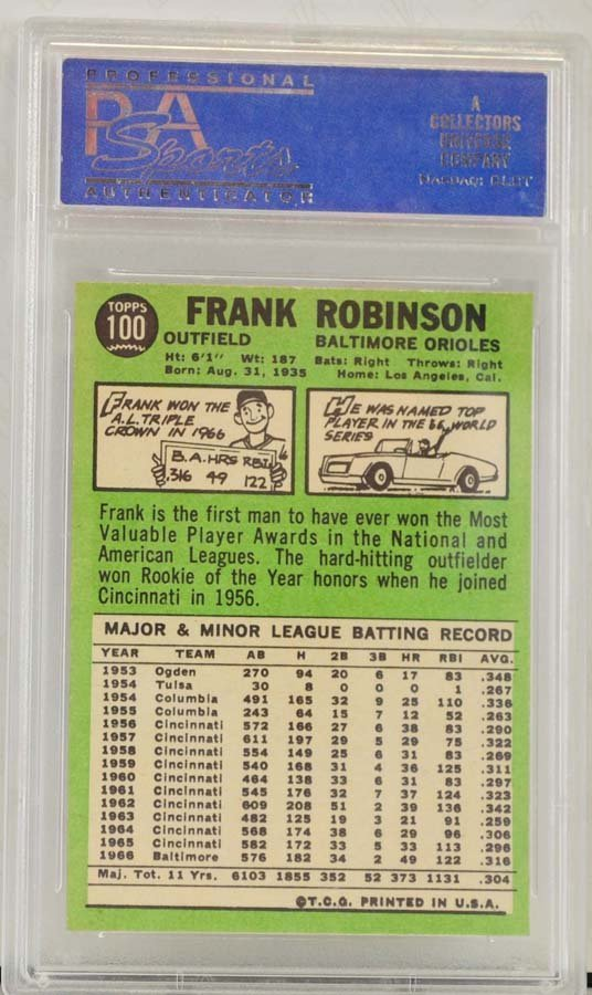 1967 Topps Frank Robinson PSA Graded 8 - 2
