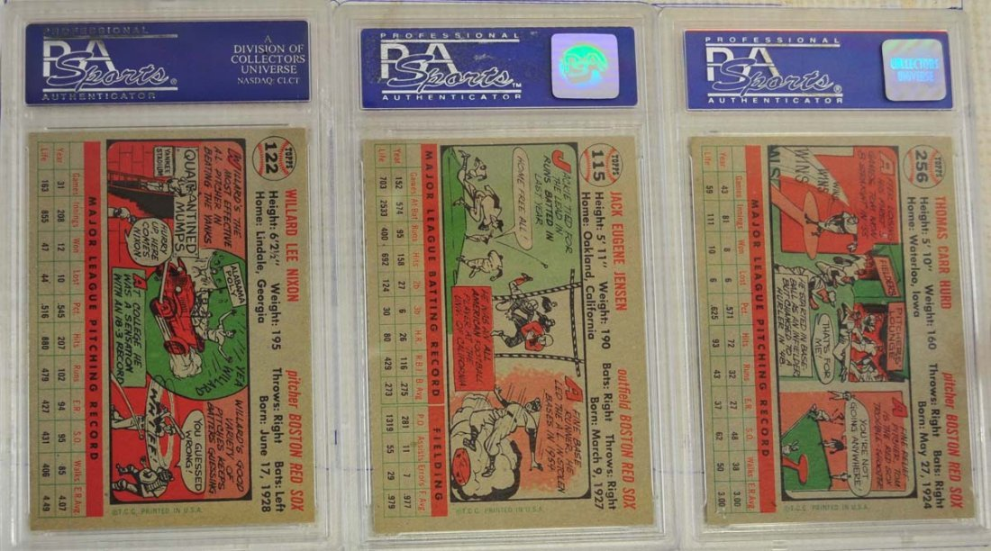 8 1956 Topps Baseball Cards PSA Graded 8 - 2