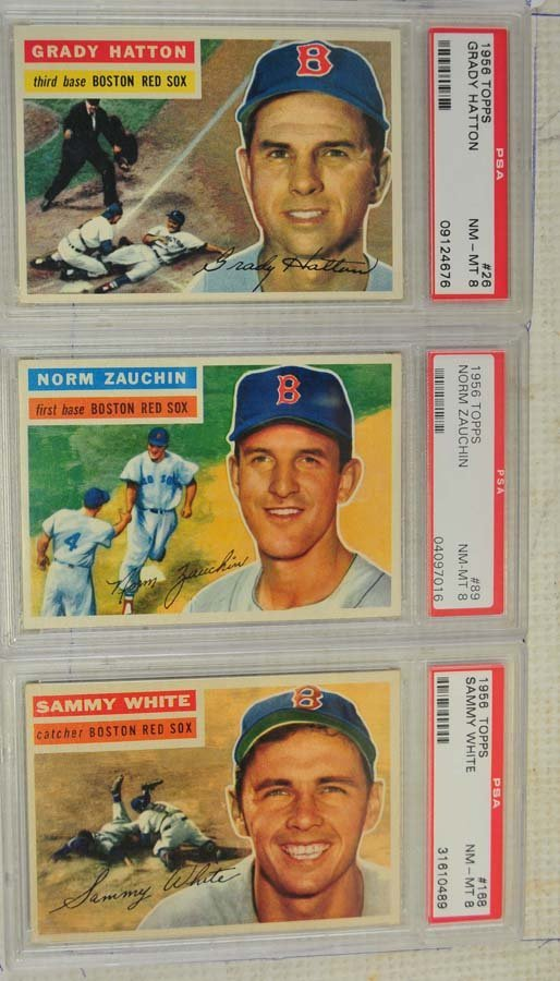 8 1956 Topps Baseball Cards PSA Graded 8 - 3