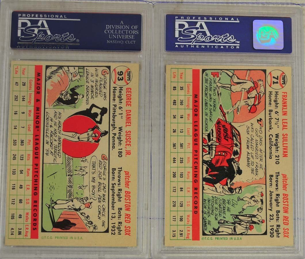 8 1956 Topps Baseball Cards PSA Graded 8 - 6